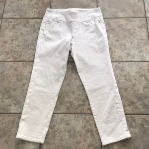Jag jeans white high rise slim ankle size 10